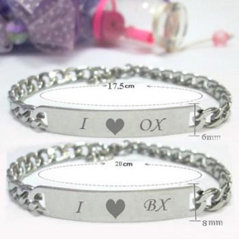 Lắc tay cặp đôi I love 0x, i love bx - trang sức MTJ
