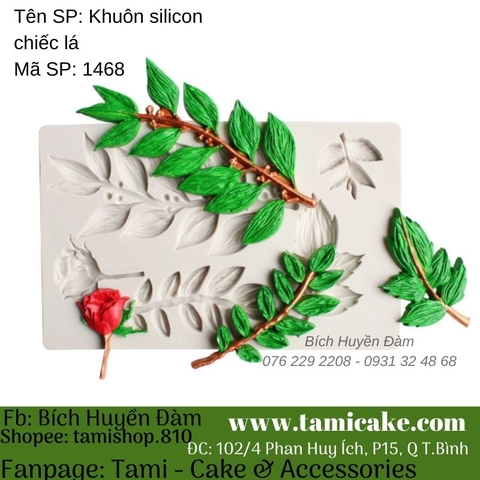 Khuôn silicon chiếc lá 1468