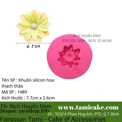 Khuôn silicon hoa thạch thảo 1489