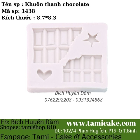 Khuôn silicon thanh chocolate 1438