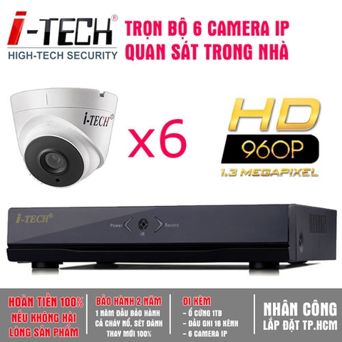 Bộ 6 Camera IP 1.3 Megapixel  iTech-CX13
