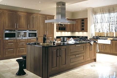 Image result for tủ bếp gỗ óc chó