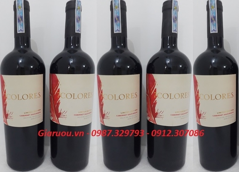 CUNG CẤP RƯỢU VANG CHILE 7COLORES LIMITED EDITION CABERNET SAUVIGNON GIÁ TỐT NHẤT