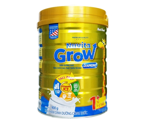 Sữa bột Nuvita Grow Diamond 900g 1+ (1T-2T)