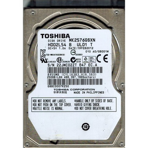 Ổ CỨNG HHD TOSHIBA  250GB PHILIPPINES