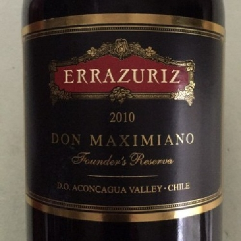 Errazuriz Don Maximiano vertical case of 6 (2007,2010, 2013)