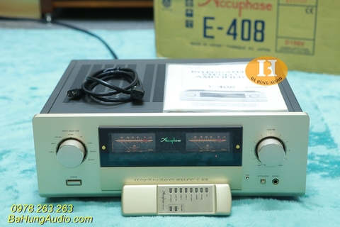 Amply Accuphase E408 đẹp xuất sắc, full đồ zin
