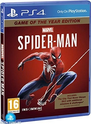 Đĩa Game PS4 Marvel's Spider Man Game of the Year Edition