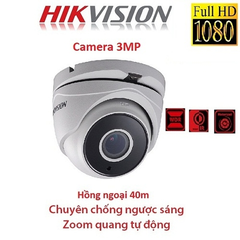 CAMERA HIKVISION 3MP DS-2CE56F7T-IT3Z CHỐNG NGƯỢC SÁNG, ZOOM FX