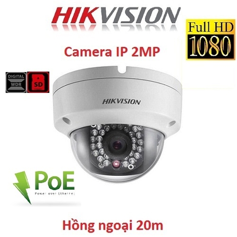 CAMERA IP HIKVISION 2MP DS-2CD1121-I H264+ HỖ TRỢ POE