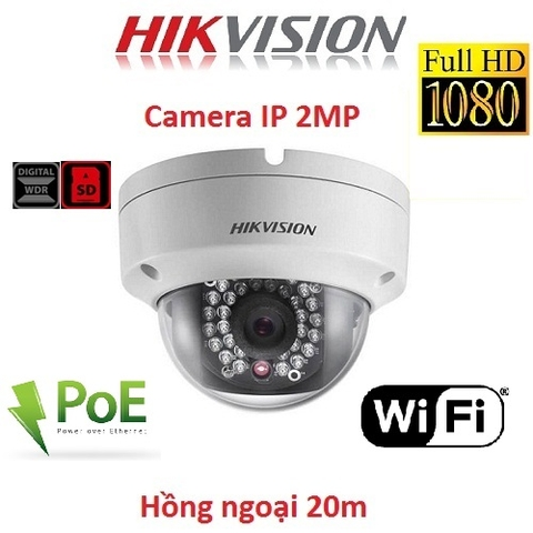 CAMERA IP HIKVISION 2MP DS-2CD2121G0-IWS KẾT NỐI WIFI, POE