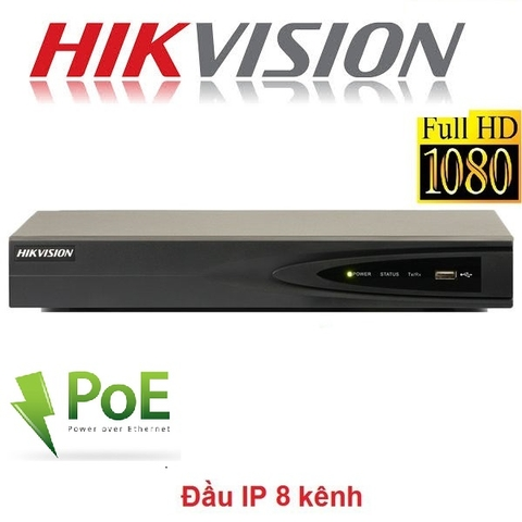 ĐẦU 8 IP HIKVISION DS-7608NI-E2/8P 2MP