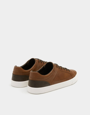 PULL$BEAR URBAN BROWN SNEAKERS SALE UP TO 50%
