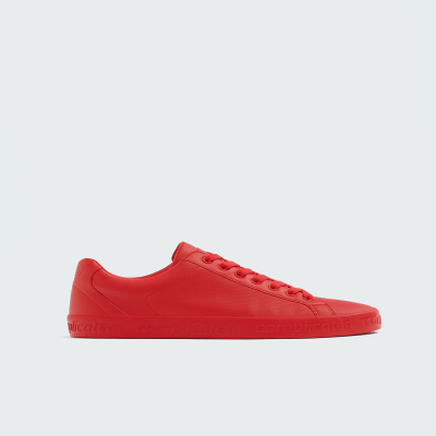 SNEAKERS PULL$BEAR - RED WITH LETTERING - 7235312