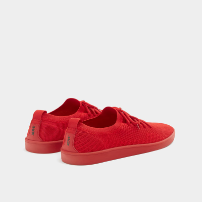 PULL$BEAR RED KNIT FABRIC TRAINERS - 7258312