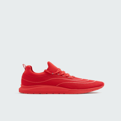 PULL$BEAR RED XDYE TRANSFER TRAINERS - 7328312