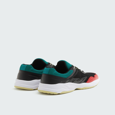 SNEAKERS PULL$BEAR BLACK WITH THICK - 7350312