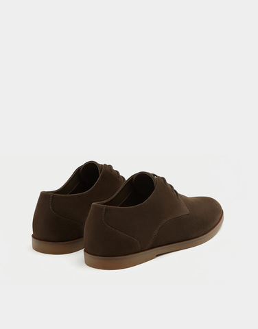 PULL$BEAR SLIM BROWN SHOES SALE OFF 30%