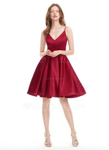 Đầm xoè kiểu 2 dây cổ tim sang trọng