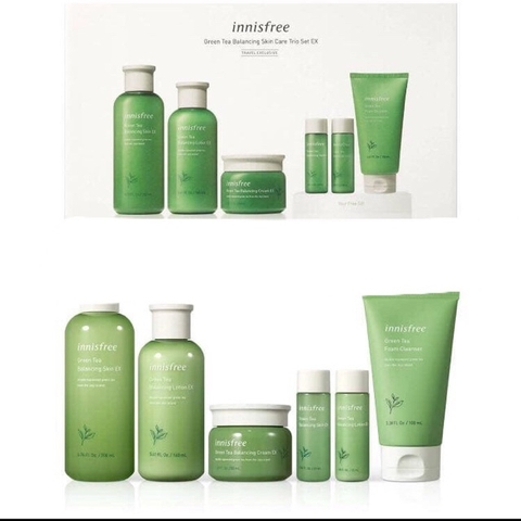 Set dưỡng Trà Xanh Innisfree Green Tea Balancing Skin Care Trio Set EX 6 in 1