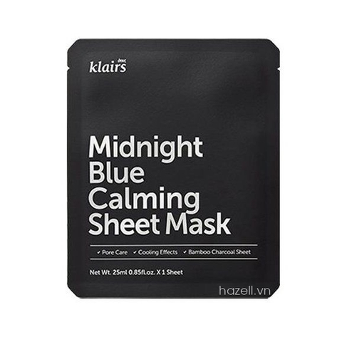 Mặt nạ Dear, Klairs Midnight Blue Calming Sheet Mask - 25ml