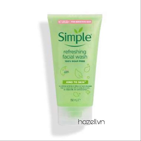 Sữa rửa mặt dạng gel Simple Sensitive Skin Experts Kind To Skin Refreshing Facial Wash