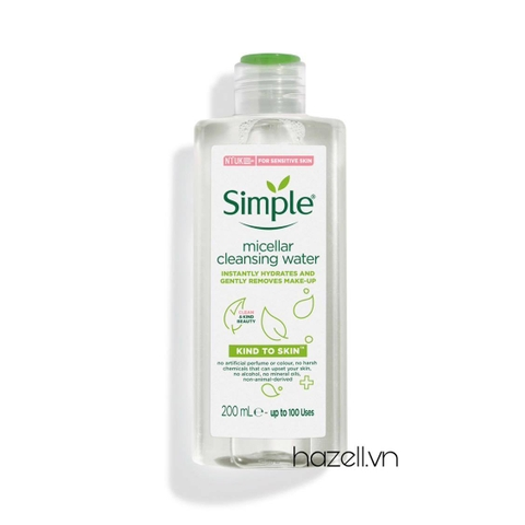 Tẩy trang Simple kind to skin micellar