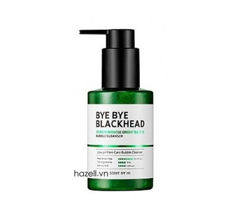 Sữa rửa mặt sủi bọt SOME BY MI Bye Bye Blackhead 30 Days Miracle Grean Tea Tox - 120g