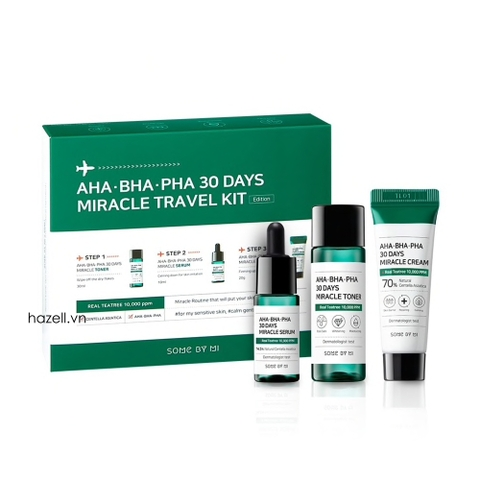 Set dưỡng trị mụn SOME BY MI AHA-BHA-PHA 30 Days Miracle Travel Kit (3item)