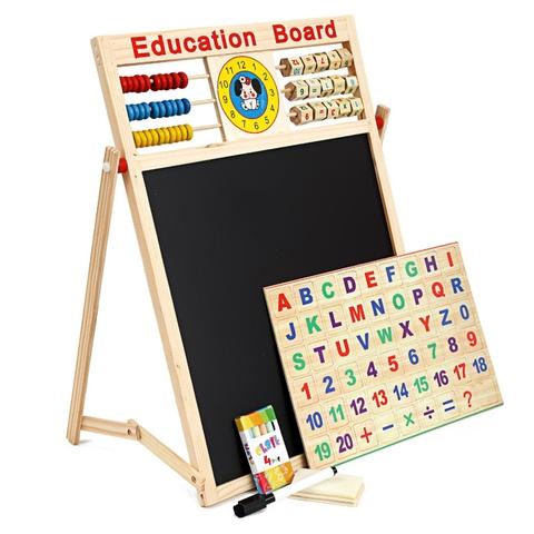 Các mô hình ấn tượng trong Bảng từ 2 mặt Education Board kèm bộ chữ số, chữ cái cho bé