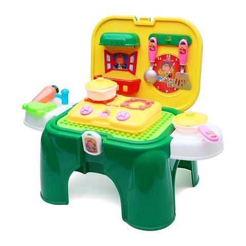 Bộ đồ chơi nấu ăn 42 chi tiết kết hợp ghế ngồi - Nhựa Chợ Lớn dành cho bé từ 3 tuổi