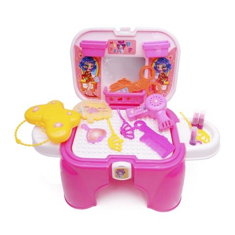 Bộ đồ chơi trang điểm 34 khối kết hợp ghế ngồi - Nhựa Chợ Lớn dành cho bé từ 3 tuổi