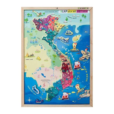 Các mô hình ấn tượng trong bộ Đồ chơi gỗ Poomko Bản đồ Việt Nam và biển đảo cỡ khổ A3