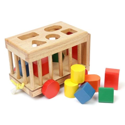 Các mô hình ấn tượng trong Đồ chơi gỗ Xe cũi thả hình Vietoys 10 chi tiết