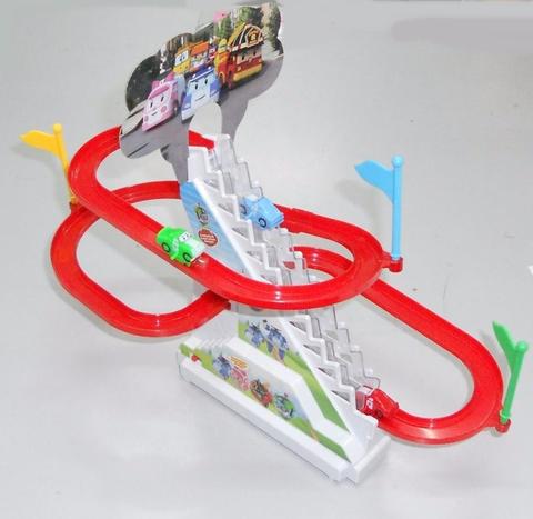 Đồ chơi ô tô leo cầu trượt tự động chạy bằng Pin - Hình ảnh vỏ hộp