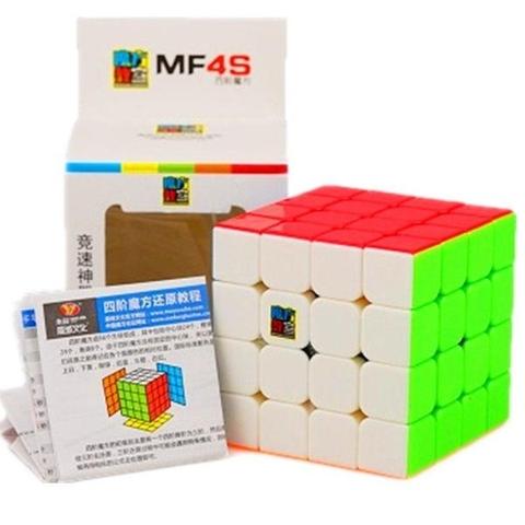 Đồ chơi Rubik MoYu MoFangJiaoShi 4x4 MF4s Stickerless - Thiết kế ấn tượng