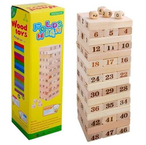 Các mô hình ấn tượng trong Bộ Đồ chơi rút gỗ 48 thanh