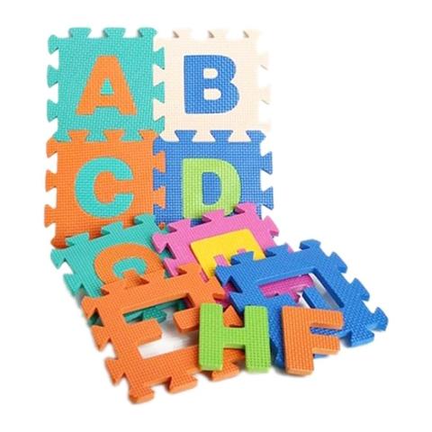 Các mô hình ấn tượng trong bộ Thảm trẻ em 40 miếng chữ cái - số - dấu toán học Phước Thành