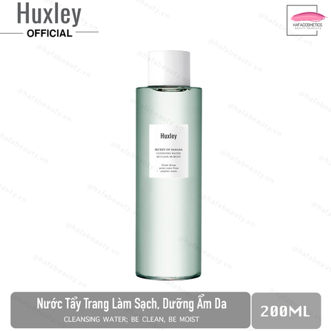 Nước tẩy trang Huxley Cleansing Water ; Be Clean Be Moist 200ml