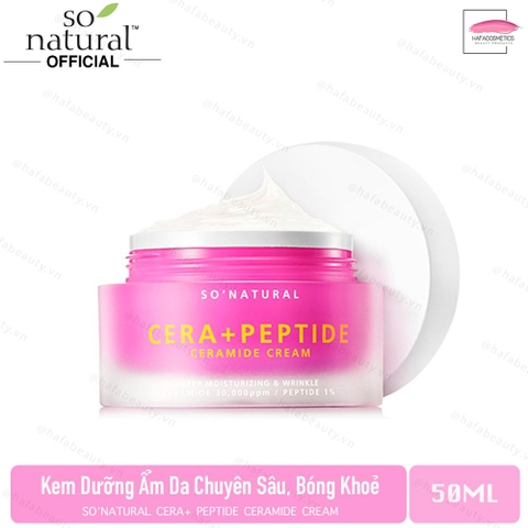 Kem Dưỡng Ẩm Da So Natural Cera+ Peptide Ceramide Cream 50ml