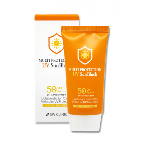Kem chống nắng 3W Clinic Multi Protection UV Sunblock Cream SPF 50+ PA+++ 70 ml