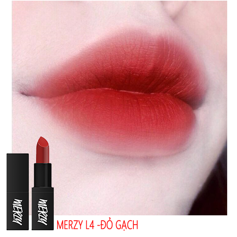 Son Thỏi Lì Merzy Another Me The First Lipstick #L4 With me (Đỏ gạch)
