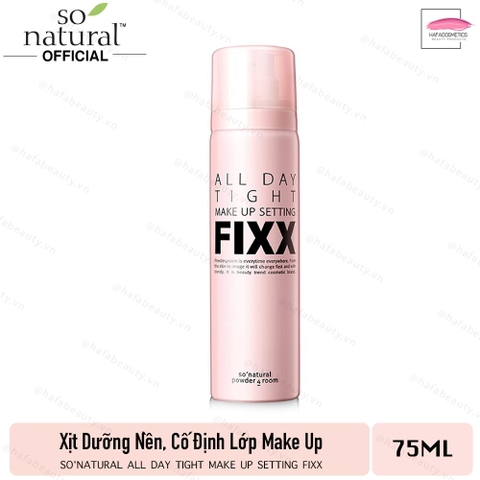 Xịt Dưỡng Nền, Cố Định Lớp Make Up So Natural All Day Tight Make Up Setting Fixx 75ml