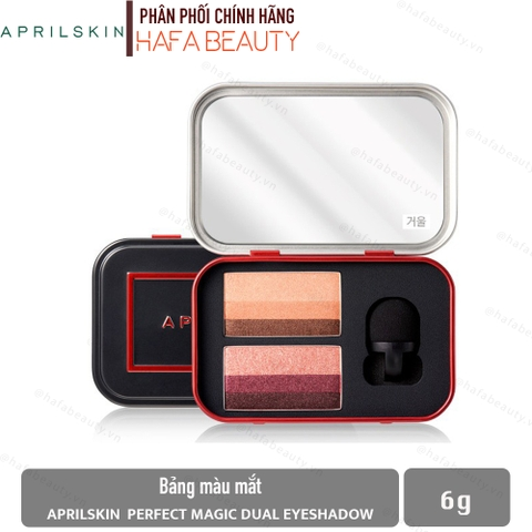Bảng Phấn Mắt Aprilskin Perfect Magic Dual Eyeshadow 6g