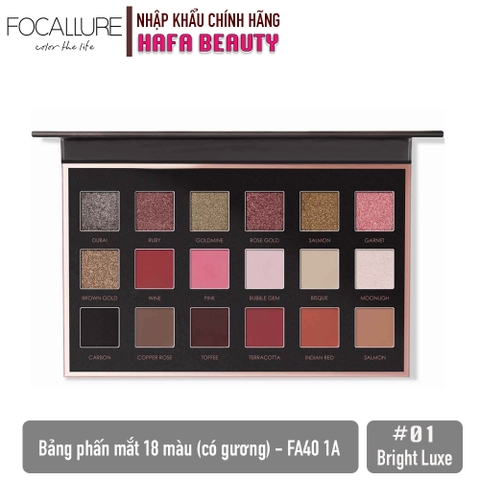 Bảng Phấn Mắt 18 màu Focallure We Care Your Favors 18 Shades Full Function Palette with Mirror (FA40-1A)