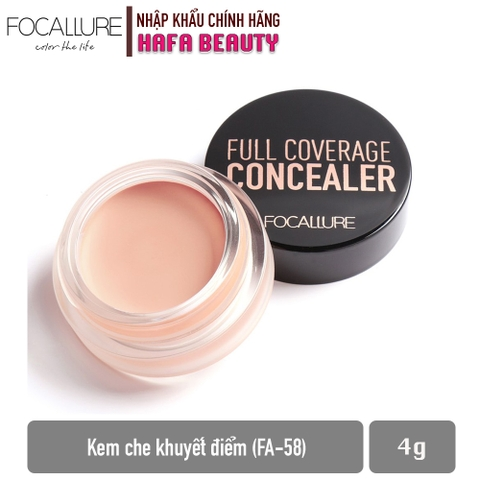 Kem che khuyết điểm hoàn hảo Focallure Full Coverage Concealer FA-58 4g