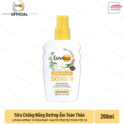 Sữa Chống Nắng LOVEA Spray Hydratant Haute Protection FPS 50 200ml