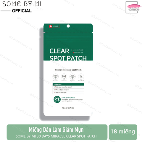 Miếng Dán Trị Mụn Some By Mi 30 Days Miracle Clear Spot Patch (18 pcs)