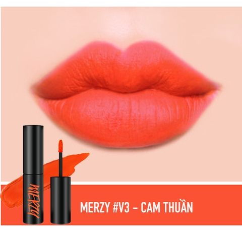 Son Kem Lì Merzy Another Me the First Velvet Tint #V3 Cassis Orange (Cam tươi)