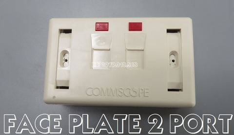 AMP Faceplace 2p (Mặt wallplate AMP 2P )
